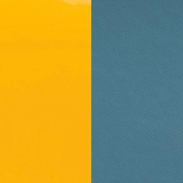 Les Georgettes Ledereinsatz für Armreifen gelb leuchtend / baalte blau
