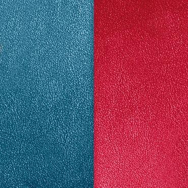 Les Georgettes Ledereinsatz für Armreifen petrolblau / himbeere