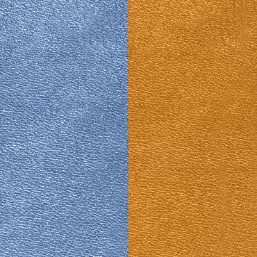 Les Georgettes Ledereinsatz für Armreifen denim blue / canyon