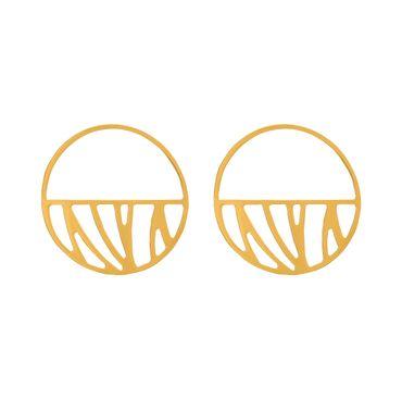 Les Georgettes Ohrringe Créolen 43 mm Perroquet vergoldet