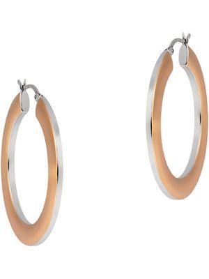 Damen Ohrringe Creolen Silber bicolor rosé 39-876390