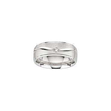 Freundschaftsring Sterling Silber 925 rhodiniert mit Zirkonia 6,5mm BFR99124