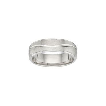 Freundschaftsring Sterling Silber 925 rhodiniert 6,5mm BFR99125