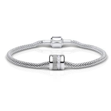 Bering Damen-Armband und Charm aus Edelstahl Outstanding Charm-Set-198