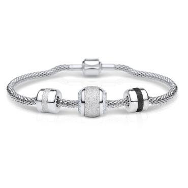 Bering Damen-Armband und Charm aus Edelstahl Faithful Charm-Set-200