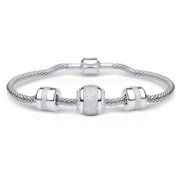 Bering Damen-Armband und Charm aus Edelstahl Charm-Set-201