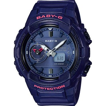 Casio Baby-G Damenuhr Analog-Digital Quarz mit Resin-Armband BGA-230S-2AER