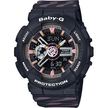 Casio Baby-G Damenuhr Analog-Digital Quarz mit Resin-Armband BA-110CH-1AER