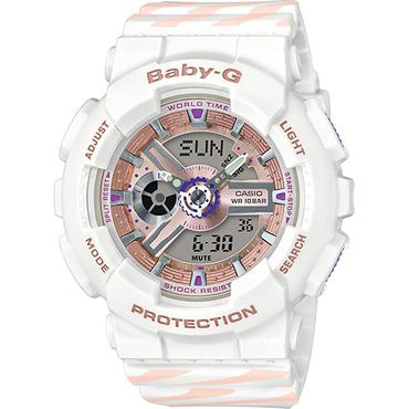 Casio Baby-G Damenuhr Analog-Digital Quarz mit Resin-Armband BA-110CH-7AER