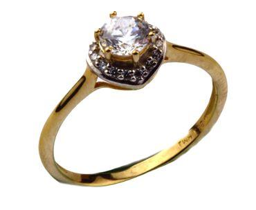 Damen-Ring Verlobungsring Antragsring aus 333 Gold mit Zirkonia 6-203389-001