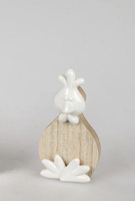 Formano Deko-Huhn mit Porzellan Elementen, ca.14cm