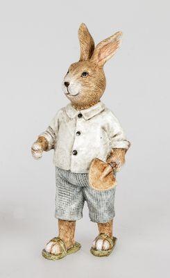 Formano Osterdeko; Hasen Mann mit Spaten, stehend; ca.16cm