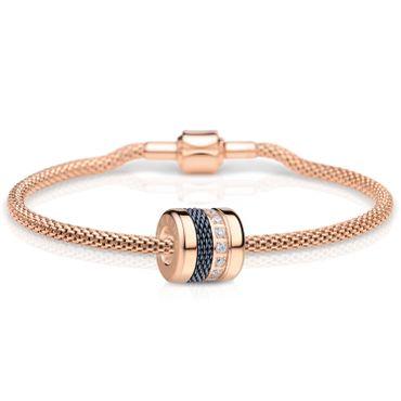 Bering Damen-Armband und Charm aus Edelstahl Friends4Ever Charm-Set-211