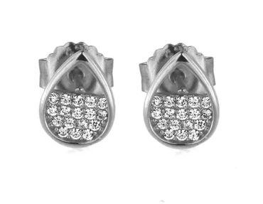 Damen-Ohrstecker 925 Sterling Silber mit Zirkonia