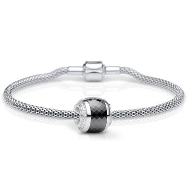 Bering Damen-Armband und Charm aus Edelstahl Thankful Charm-Set-221