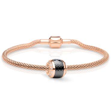 Bering Damen-Armband und Charm aus Edelstahl Thankful Charm-Set-222