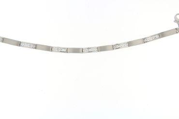 Damen-Armband 925 Sterlingsilber rhodiniert mit Zirkonia 19 cm