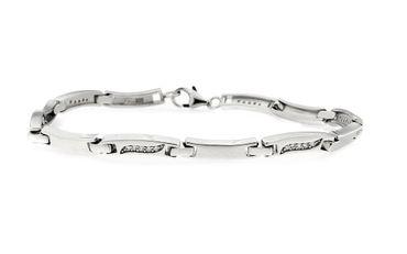 Damen-Armband 925 Sterlingsilber rhodiniert mit Zirkonia 18,5 cm