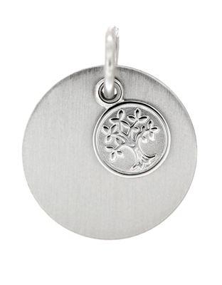 Gravuranhänger Sterling Silber 925 rhodiniert mit Lebensbaum inkl. Gravur