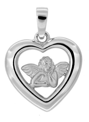 Kettenanhänger Schutzengel 925 Sterling Silber rhodiniert