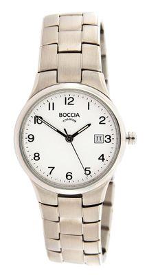 Boccia Damenarmbanduhr Analog Quarz mit Titan-Armband 3297-01