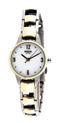 Boccia Damenarmbanduhr Analog Quarz mit Titan-Armband 3277-02