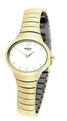 Boccia Damenarmbanduhr Analog Quarz mit Titan-Armband 3280-02