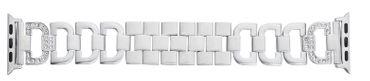 Edelstahl-Schmuckband mit Steinchen geeignet für Apple Watch 40mm / 44mm