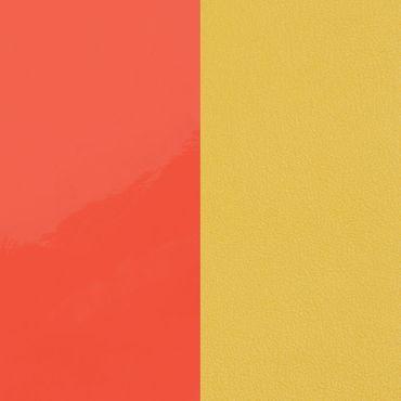 Les Georgettes Einsatz für Ohrringe neon orange / kanariengelb