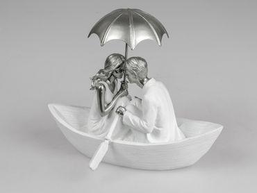 Formano Skulptur Liebespaar im Boot; ca.23cm