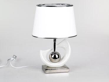 Formano Dekorative Lampe in weiß-silber; ca. 40cm