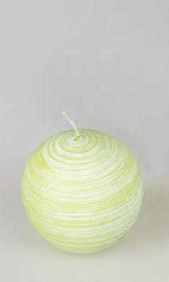 Formano Kugel Kerze Pure grün; ca. 6cm