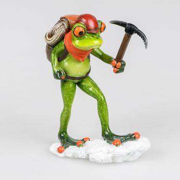 Formano Dekofigur Frosch als Bergsteiger; ca. 12x15cm
