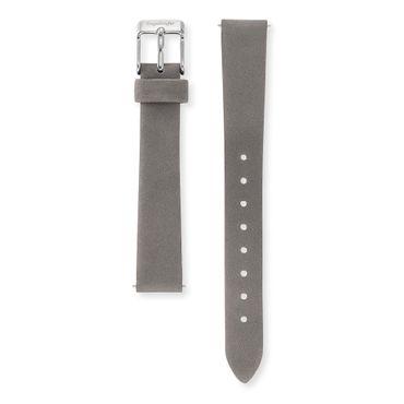 Wechselarmband für Engelsrufer-Uhr 14mm Nubukleder dunkelgrau Dornschließe Edelstahl