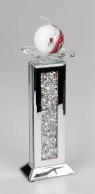Formano Kerzenleuchter, Spiegel-Stones; ca. 9x25cm