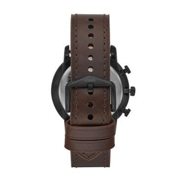 Fossil Herren-Armbanduhr Goodwin Analog Quarz mit Lederarmband schwarz FS5529