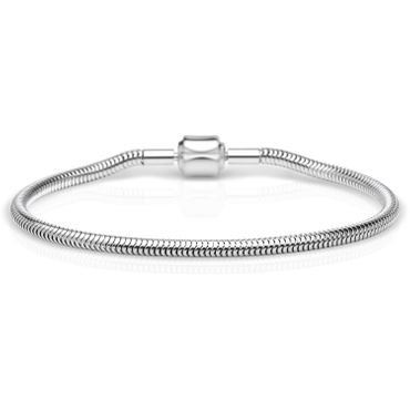 BERING Damen-Armband Schlange für Charms Edelstahl 615-10-X