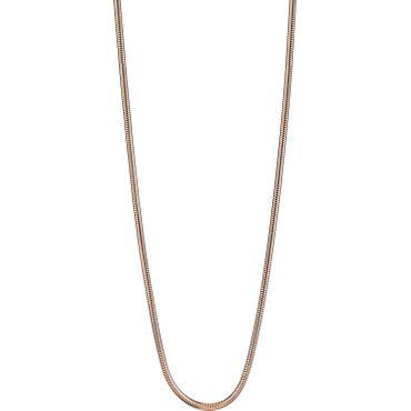 BERING Damen-Kette Schlangenkette für Charms Edelstahl rosé 424-30-X0