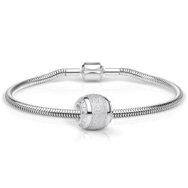 Bering Schmuckset Armband und Charm SparklingLove-1 aus Edelstahl Charm-Set-281