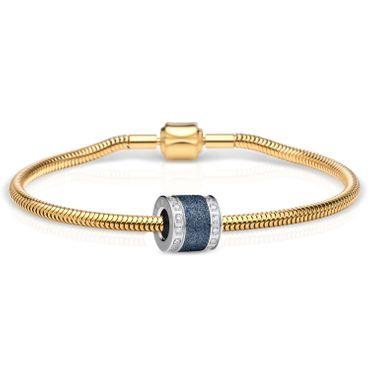 Bering Schmuckset Armband und Charm BestMom-1 aus Edelstahl vergoldet Charm-Set-348