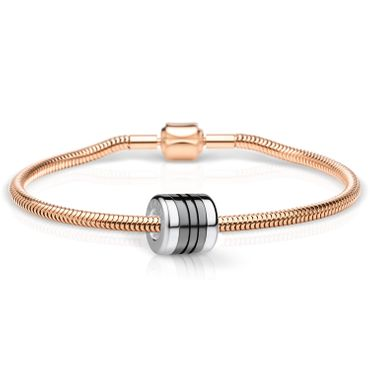 Bering Schmuckset Armband und Charm EndlessLove-1 aus Edelstahl rosé Charm-Set-351