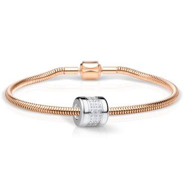 Bering Schmuckset Armband und Charm Love-2 aus Edelstahl rosé Charm-Set-366