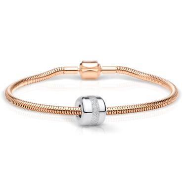 Bering Schmuckset Armband und Charm Faith-1 aus Edelstahl rosé Charm-Set-371