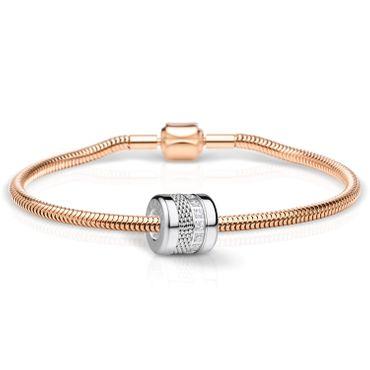Bering Schmuckset Armband und Charm Love-3 aus Edelstahl rosé Charm-Set-373