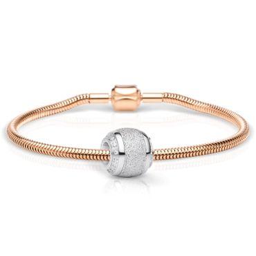 Bering Schmuckset Armband und Charm SparklingLove-1 aus Edelstahl rosé Charm-Set-375