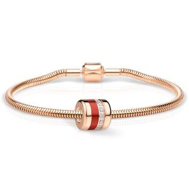 Bering Schmuckset Armband und Charm Soulmate-2 aus Edelstahl rosé Charm-Set-380
