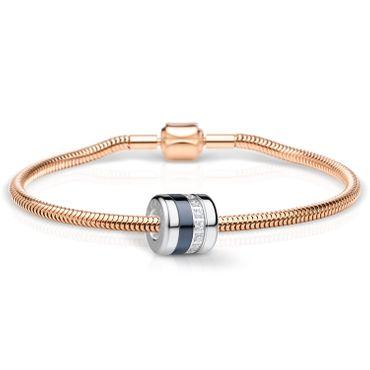 Bering Schmuckset Armband und Charm Friends4Ever-2 aus Edelstahl rosé Charm-Set-382