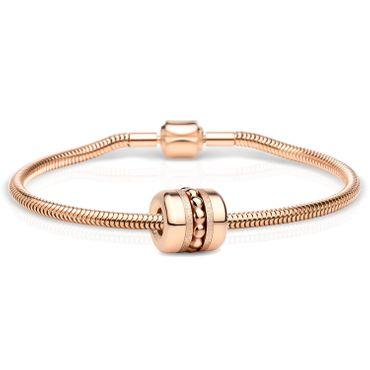 Bering Schmuckset Armband und Charm Family-2 aus Edelstahl rosé Charm-Set-394