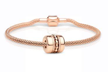 Bering Damen-Armband und Charm aus Edelstahl Family Charm-Set-545
