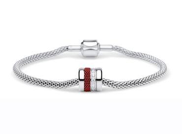 Bering Damen-Armband und Charm aus Edelstahl Love Charm-Set-549